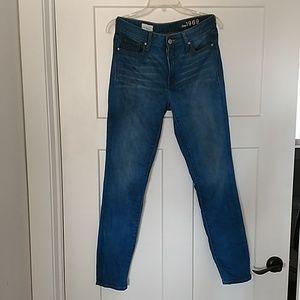Gap jeans high rise skinny 27r